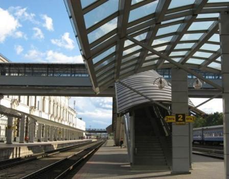 Накировском вокзале появятся 40-метровые навесы отдождя иснега