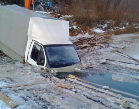 ВПодосиновском районе провалилась под лед «Газель»