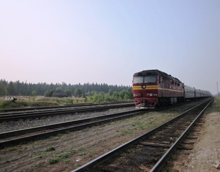 ВКирове поезд едва несбил девочку, перебегавшую пути
